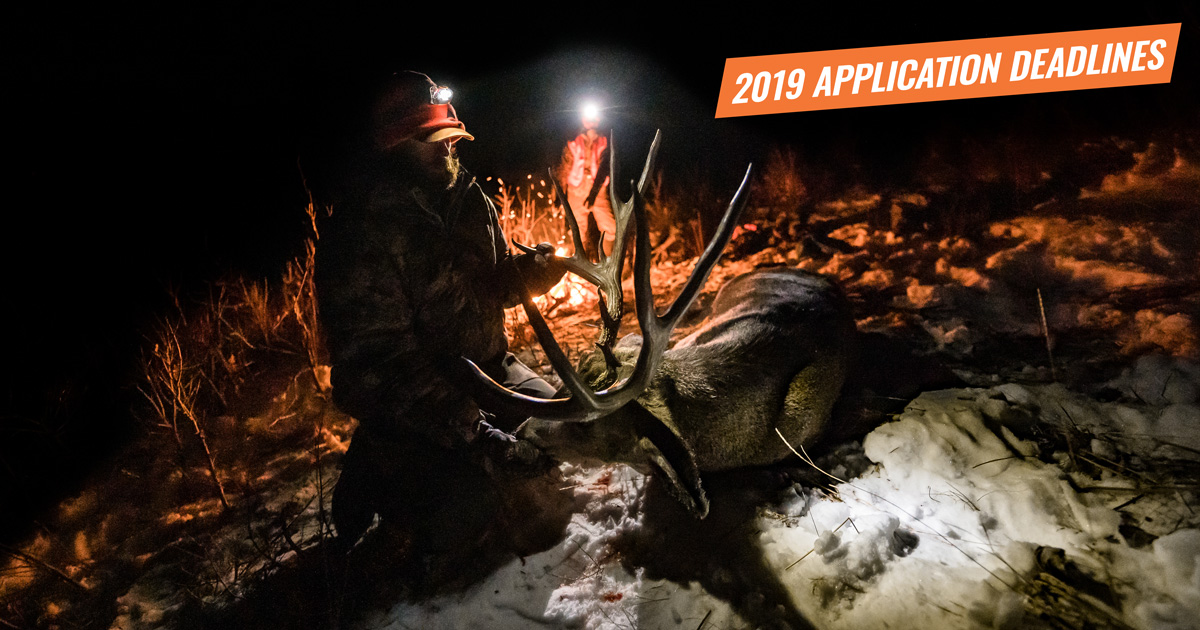 Best Wyoming Elk Units 2020 2019 Western Big Game Hunting Application Deadlines | goHUNT