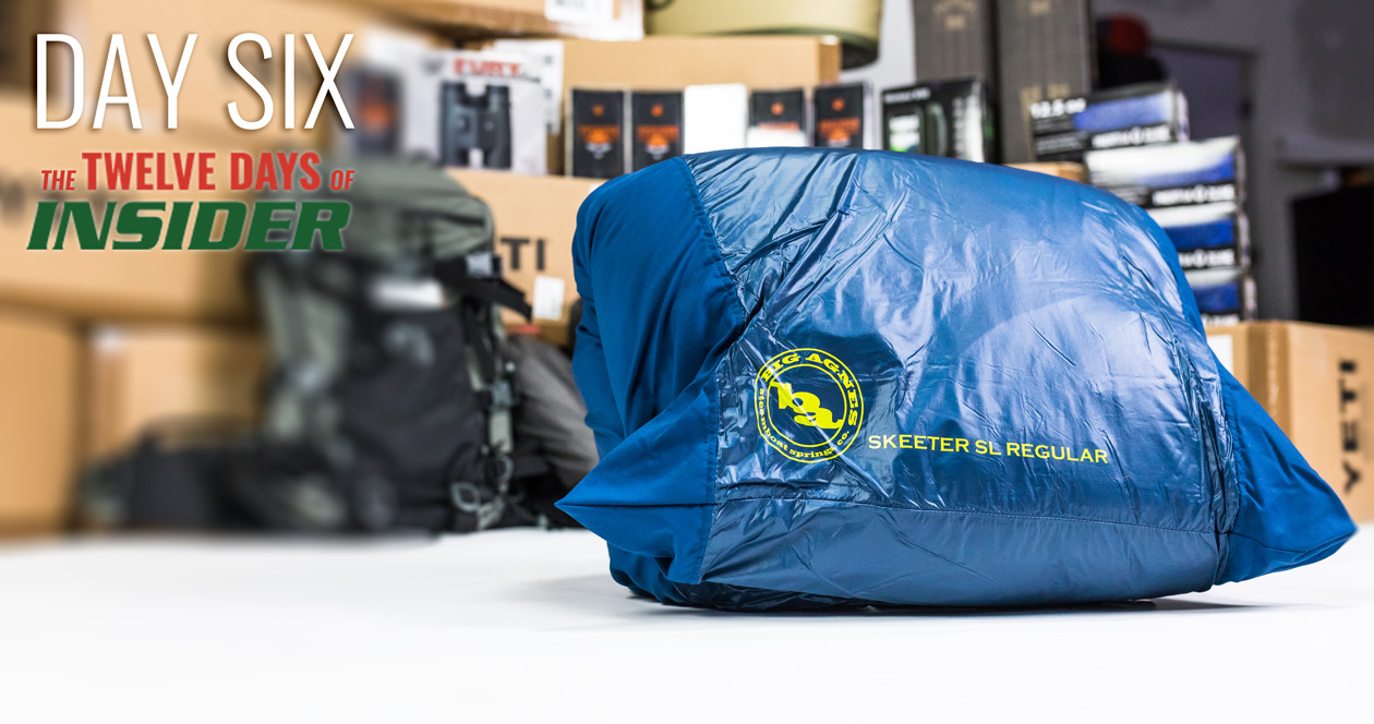The 12 Days of INSIDER giveaway: Six Big Agnes Skeeter 20 Degree Sleeping Bags