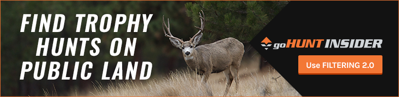 Find trophy hunts on public land with Filtering 2.0