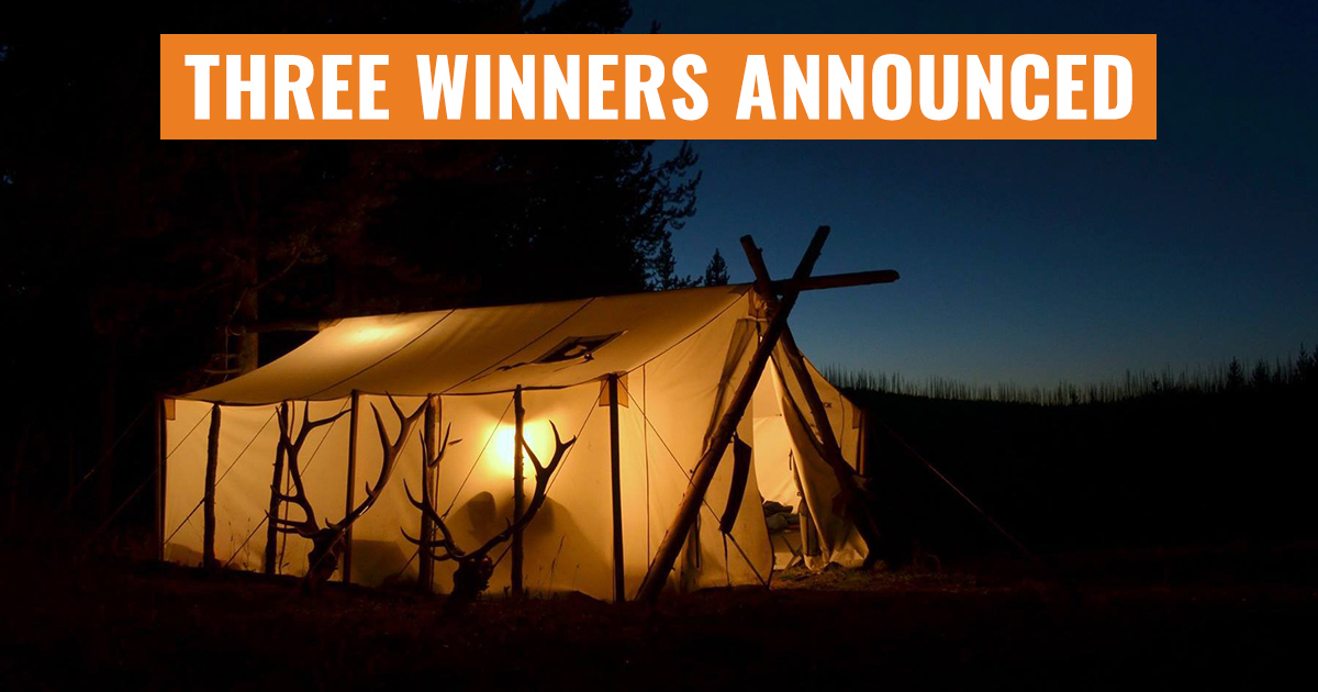 3 people just won a davis wall tent gohunt for Wall tent idaho