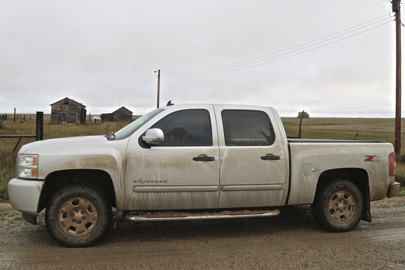 Truck after heavy rain
