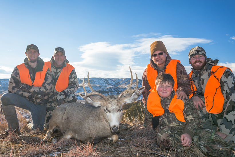 12 year old Bubba with his first mule deer