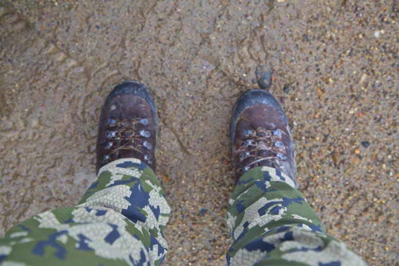 Wet boots