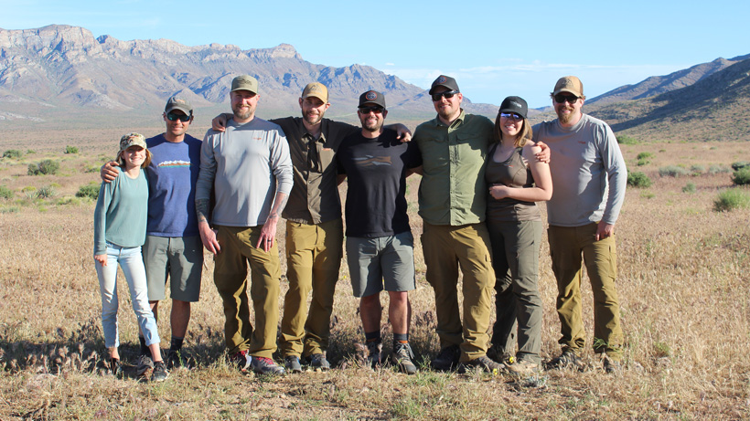2% for Conservation and Sitka Gear group photo