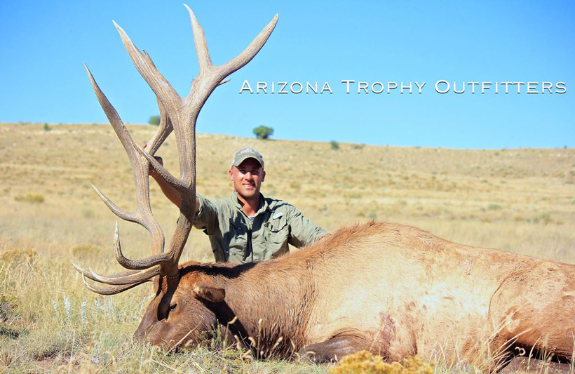 2017 Arizona bull elk taken with Arizona Trophy Outfitters
