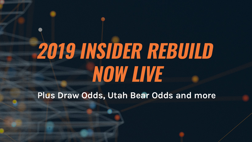 2019 Draw odds released and INSIDER Rebuild
