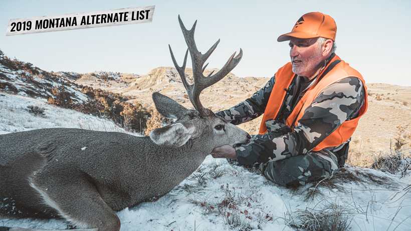 2019 Montana nonresident deer combo alternate list