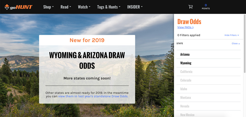2019 Wyoming and Arizona standalone draw odds experience