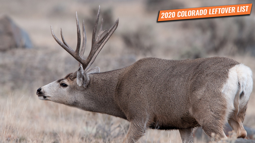 2020 Colorado leftover hunting permit list
