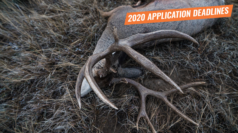 2020 western hunting application deadlines