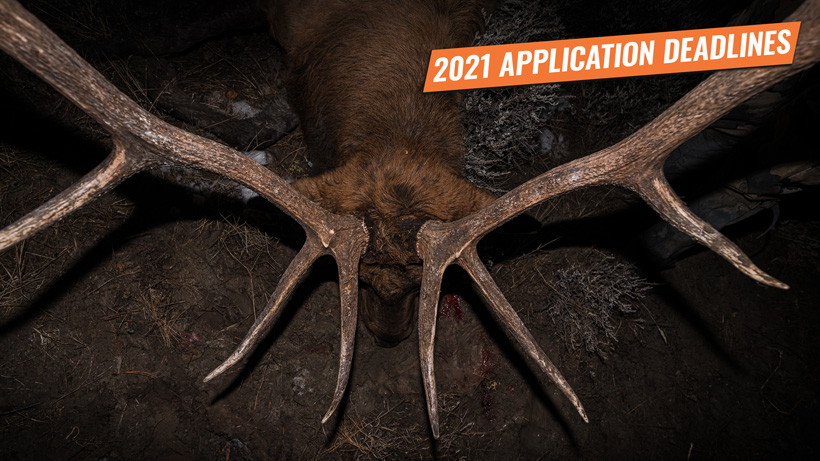 2021 Western Big Game Hunting Application Deadlines