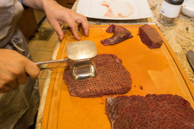 Tenderized elk meat