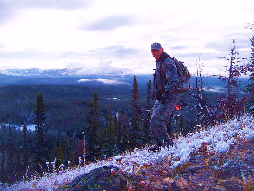 Cold mornings bowhunting in Wyoming