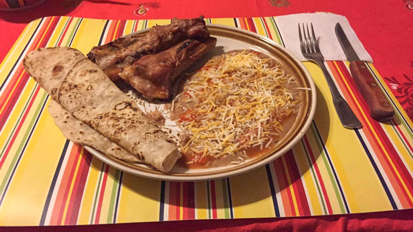 A great Mexican meal after a day of hunting
