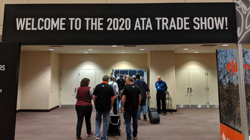 The 2020 ATA welcome banner