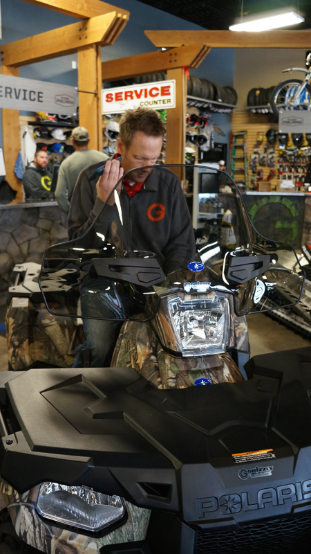 Looking at ATV windshields for cold weather