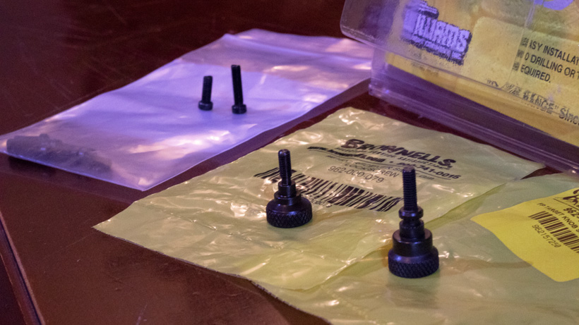 Accessories for building an adjustable sight muzzleloader