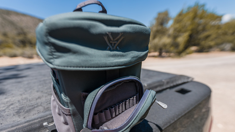 Accessory ammo pouch included with Vortex Razor UHD binoculars