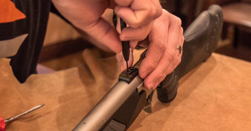 Adding custom rear sight to the muzzleloader