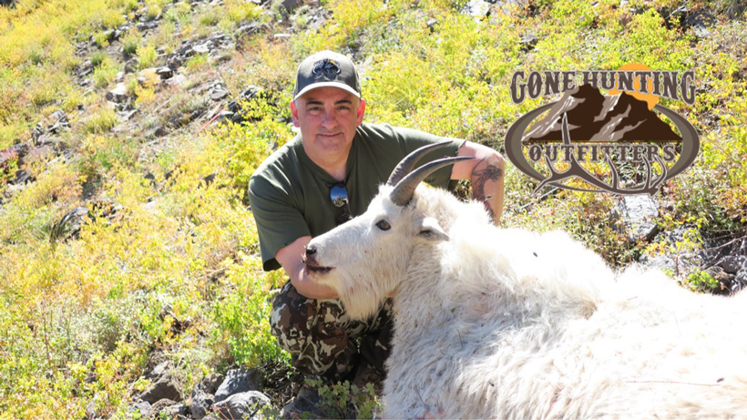 Al Serrano and his 2016 Utah mountain goat