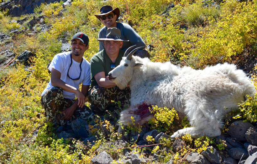 Al Serrano with his Utah mountain goat