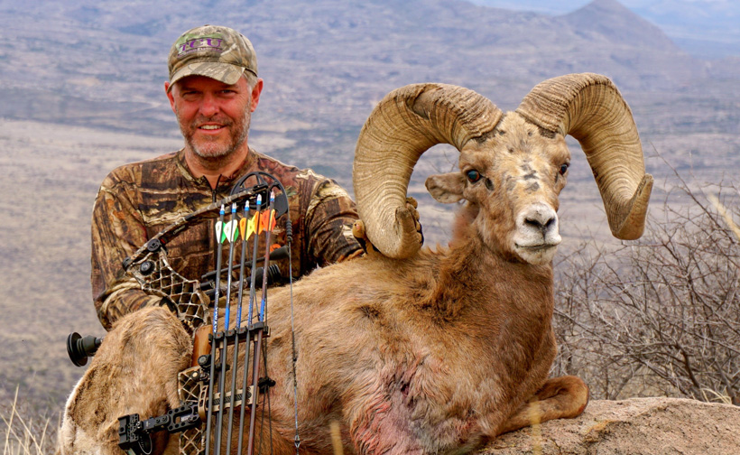 Alan McGraw with his Texas State Record desert bighorn sheep