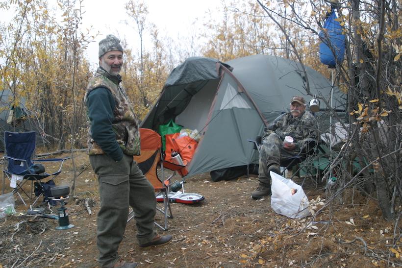 Tent setup for Alaska