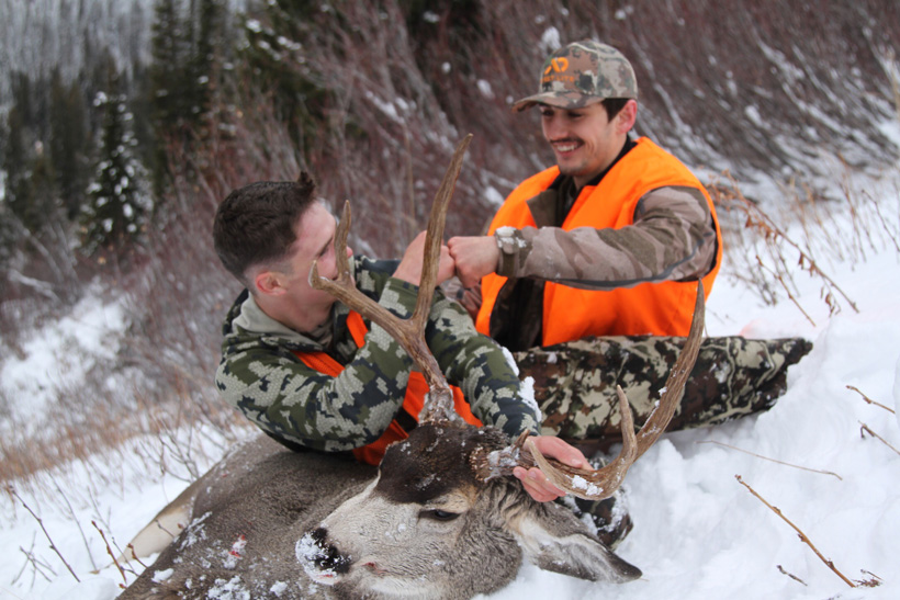 All smiles with a high country Montana mule deer