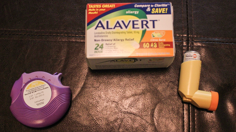 Allergy medication for hunting