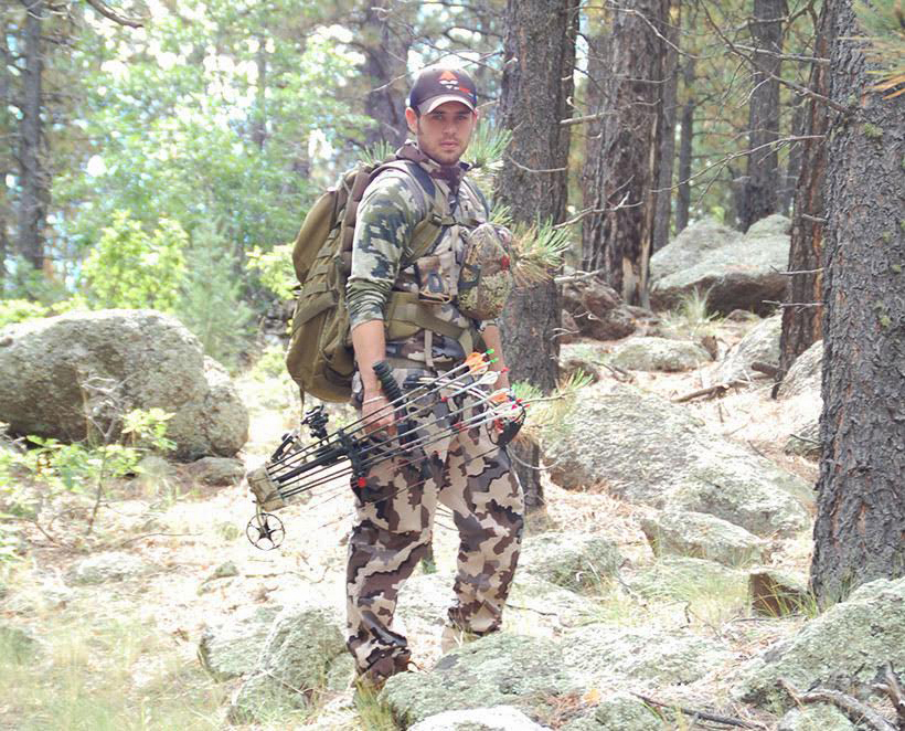 Andrew Baca bowhunting elk in New Mexico