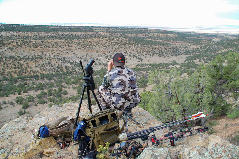 Andrew Baca glassing for elk in New Mexico