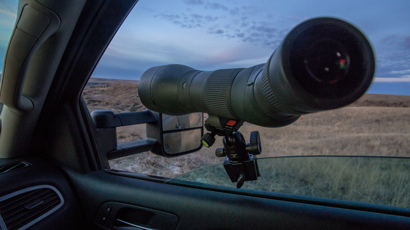 Angled Vortex spotting scope glassing from window