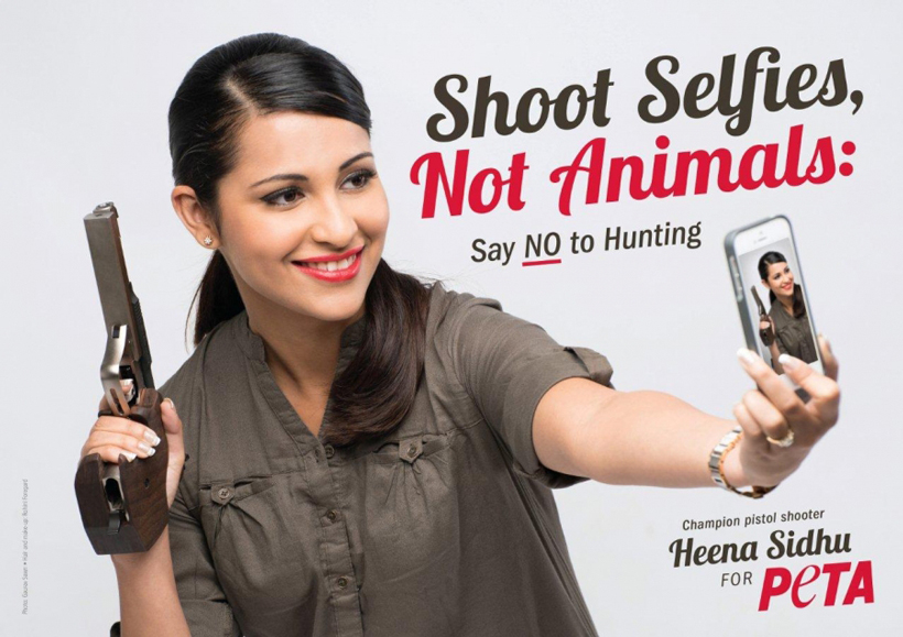 Anti-hunting PETA ad