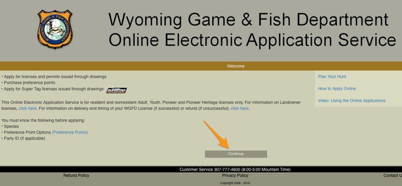 Applying for preference points in Wyoming