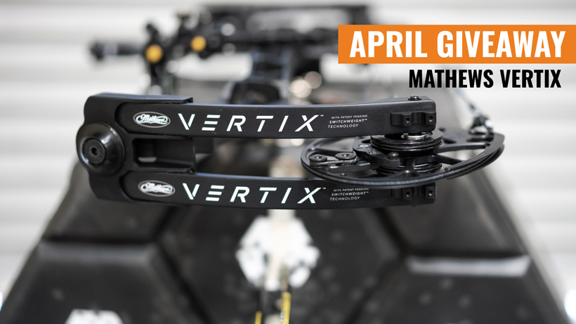 April Giveaway Mathews Vertix bow