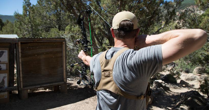 Archery blank bale practice
