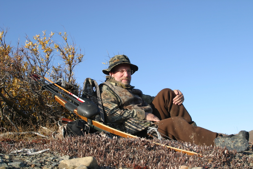 Archery hunting for caribou
