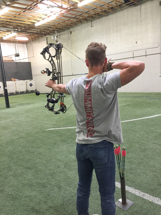 Archery practice before the season