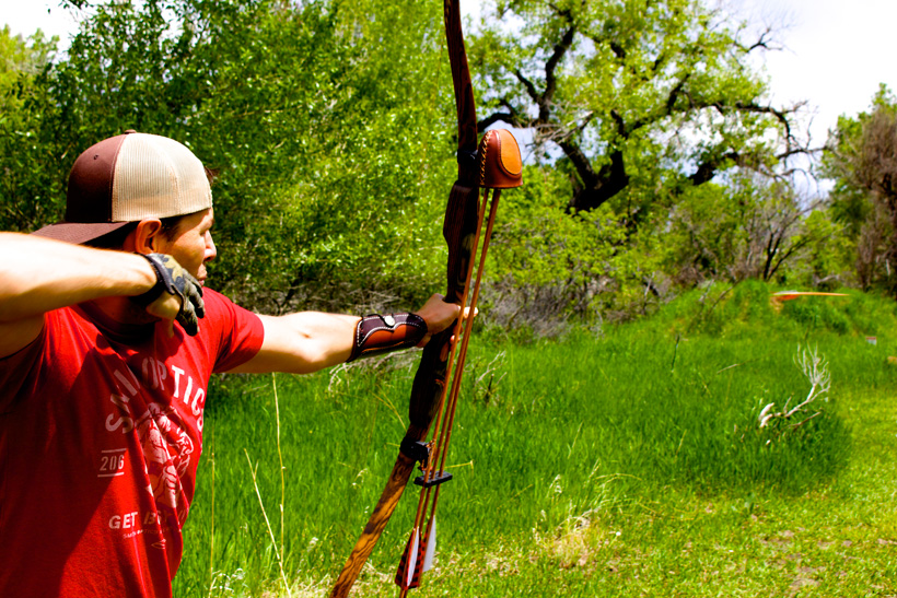 Archery practice before a hunt