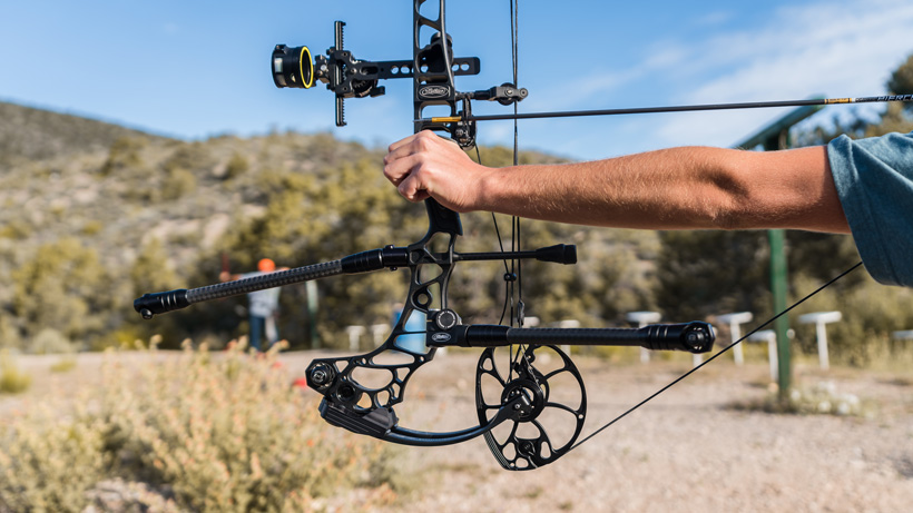 Archery range practice with Mathews Vertix bow