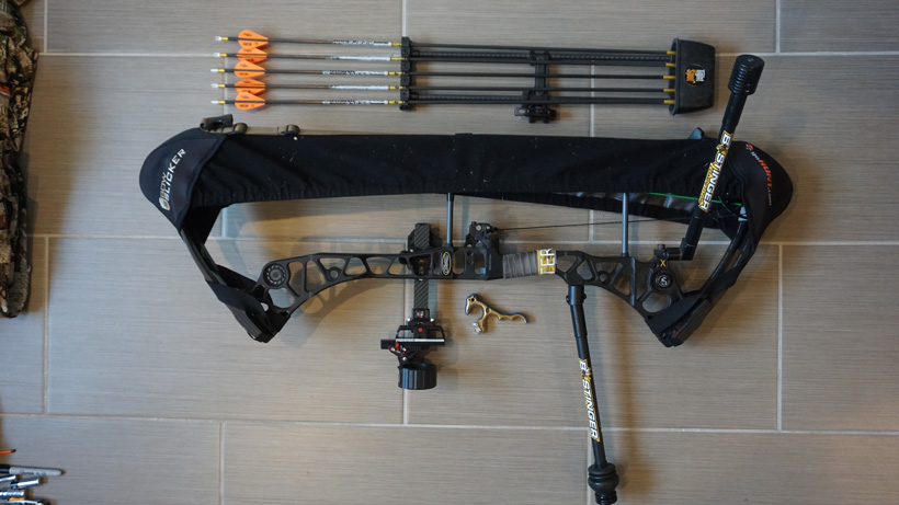 Archery setup for backcountry bowhunting