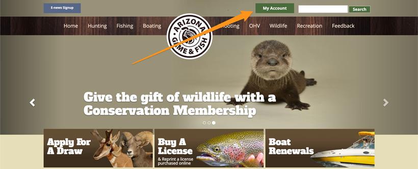 Arizona Game and Fish homepage
