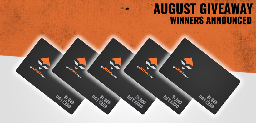 August INSIDER gift card giveaway winners