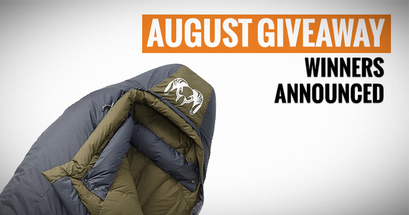 August KUIU sleeping bag winners announced