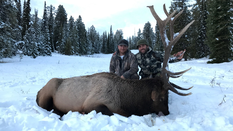 Avo with his Wyoming bull elk