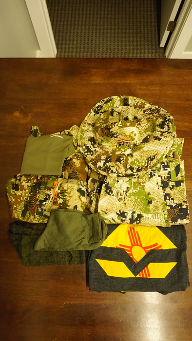 Backcountry elk hunting clothing worn
