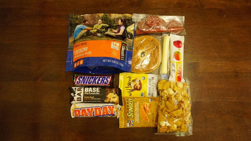 Backcountry elk hunting food list for one day