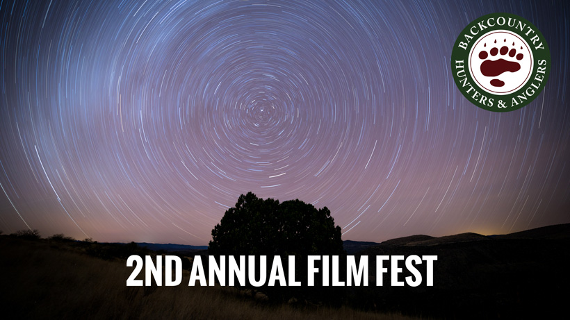 Backcountry hunters and anglers public land film festival