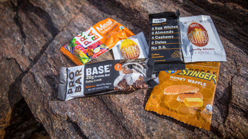Backcountry hunting snack food items