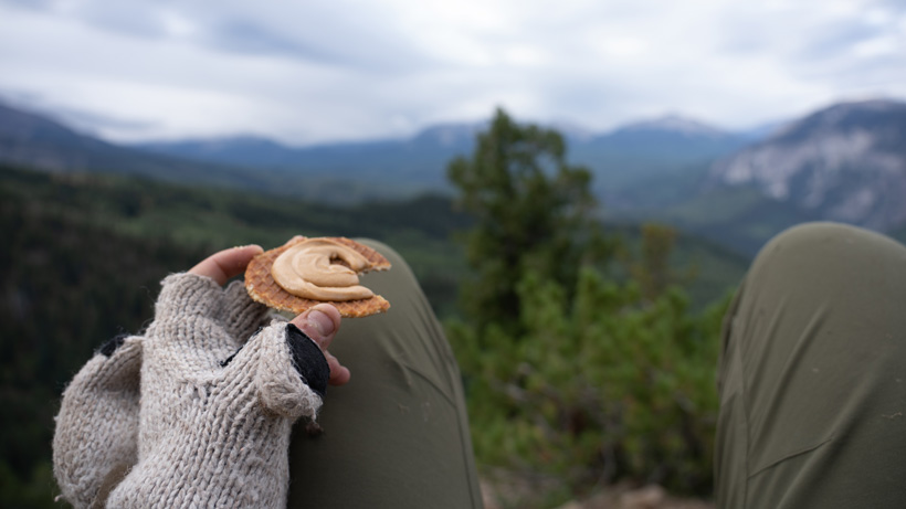 Backcountry snack while elk hunting
